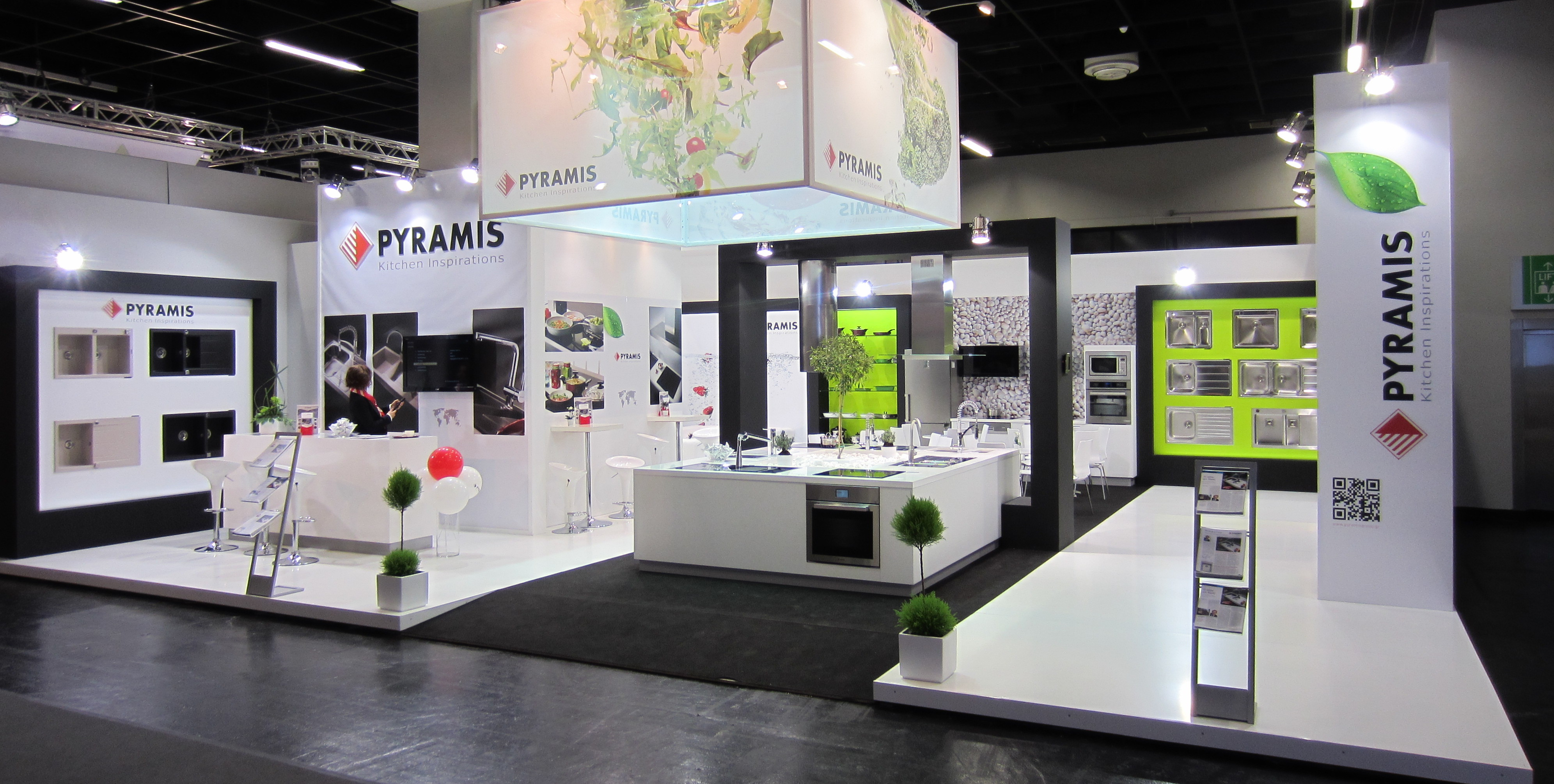 "Exhibition Stand Design In Germany : Pyramis metallourgia a e participation at ""living kitchen"